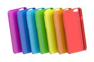 Multicolor Mobile Phone plastic cases